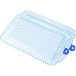 "DryFur Pet Carrier Insert Pads size Small 19.5"" x 12.5"" Blue - 2 pack"
