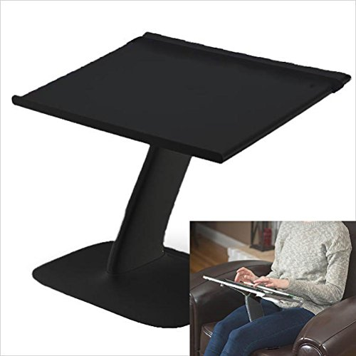 Portable Laptop Stand for Desk and Car. A Creative Space Saving Ergonomic Adjustable Laptop Computer Table, Support Holder, Riser, Rest, Or Tray (Black Color) (Creative Stand)