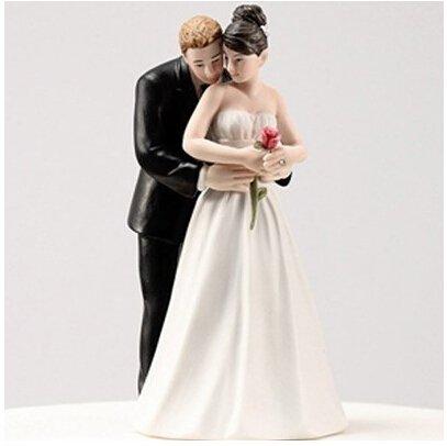 Joinwin ''Yes to the Rose'' Custom Bride & Groom Couple Figurine Wedding Cake Topper,Wedding Cake Decoration ''Yes to the Rose'' Custom Bride & Groom Couple Figurine Wedding Cake Topper