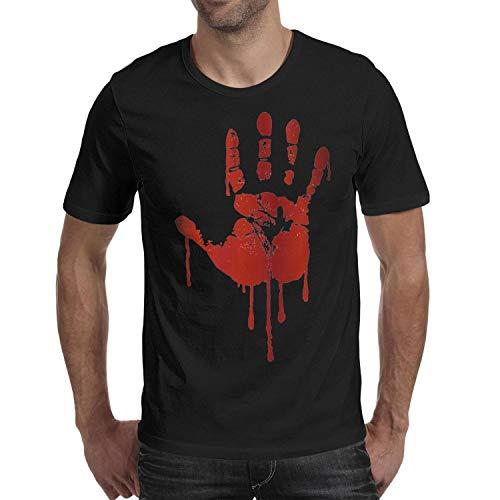 Melinda 3D Blood Palm Halloween Decorations Men's t Shirts Casual Men Halloween Costume tee Shirts -