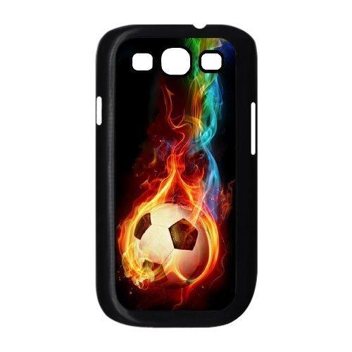 DIY Phone Case for Samsung Galaxy S3 I9300, Fire Soccer Ball Cover Case (Soccer Galaxy S3 Case)