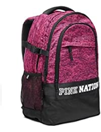 Victorias Secret Pink Nation Collegiate Campus Backpack NEW Color Marl Pink & Black