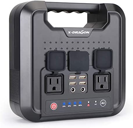 X-DRAGON Portable Generator 220WH 60000mAh Power Station Inverter Rechargeable CPAP Battery Pack Emergency Power Supply for Outdoor Camping Home Charged by Solar Panel Wall Outlet Car with 110V AC