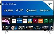 "Smart TV Philips 58"" 58PUG6654/78 4K UHD HDR10+ Dolby Vision Dolby Atmos Bluetooth WiFi 3 HDMI 2 USB - Pr"