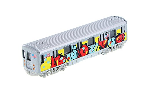 MTA New York City Metro Subway with Graffiti 7'' Diecast Model 1:100 Scale