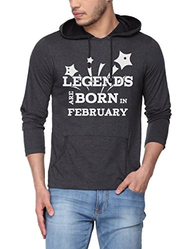 Pepperclub Men's Cotton Hoodie Tshirt – Legends are born in February