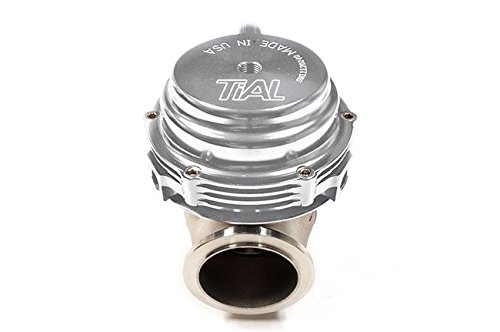(TiAL MV-S 38mm Wastegate Silver With V-Band and Flanges All Springs)