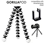 Ceuta Retails Hoji Fully Flexible Foldable Twist It , Bend It, Tilt It, Octopus Gorilla Tripod Stand Combo for DSLR's, Mobile Camera, Smartphone, Photography, Video Recording, Youtuber, 13 inch 3