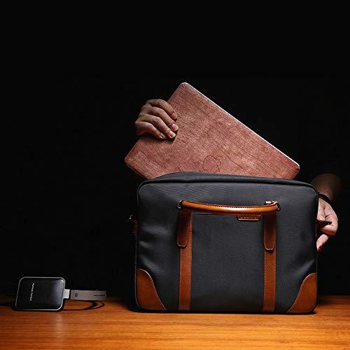 Messenger Bandoulière Bag D'épaule College Pro Noir Mens Pour Gris couleur Grand À Hommes Étanche Afcity Sac Macbook Sacoche pzqw4I