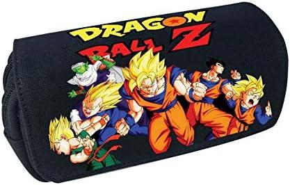 Estuche para lápices UCAI Dragon Ball Z, diseño de anime con doble cremallera PU de gran capacidad para estudiantes aficionados, color Estilo 02.: Amazon.es: Oficina y papelería