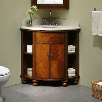 Carlton 20 Corner Bathroom Vanity Set Sink Finish White Amazoncom