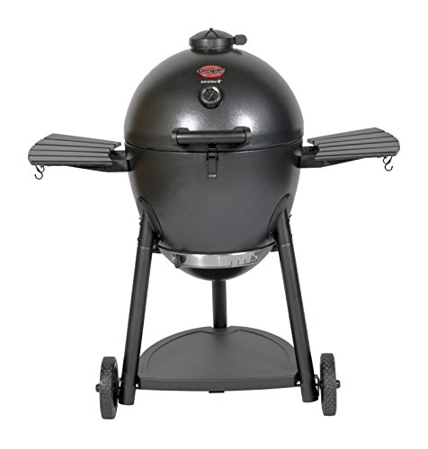 Char-Griller E16620 Akorn Kamado Kooker Charcoal Barbecue Grill and Smoker, Black