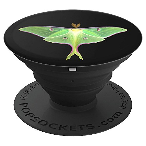 - Luna Moth Photo Gift Dark - PopSockets Grip and Stand for Phones and Tablets