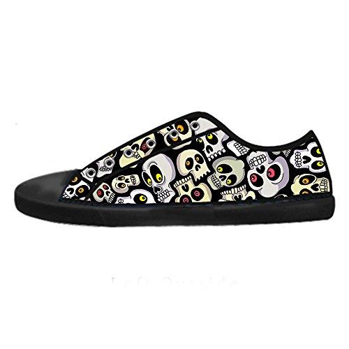 Custom Teschio Womens Canvas shoes I lacci delle scarpe scarpe scarpe da ginnastica Alto tetto