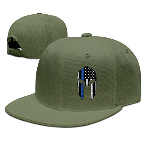 MaNeg Thin Blue Line Punisher Unisex Fashion Cool Adjustable Snapback Baseball Cap Hat One Size - Line Prada Clothing