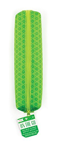 OOLY On the Go Zipper Pencil Pouch - Green Case with Elastic Band - 7.5