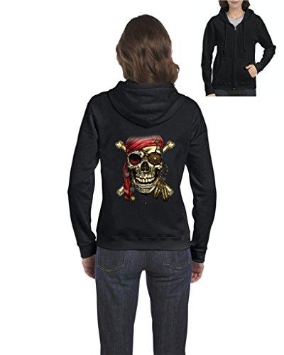 Nib Pirate Skull Costume Womens Sweaters Zip Up