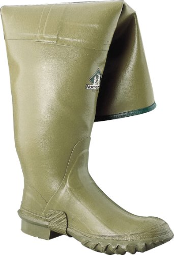"Sperian Ranger 26"" Heavy-Duty Men's Rubber Hip Boots, Oli..."