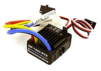 Integy RC Model Hop-ups C27384 WP-1060 Brushed Electronic Speed Controller 60A for 1/10 Scale Crawler