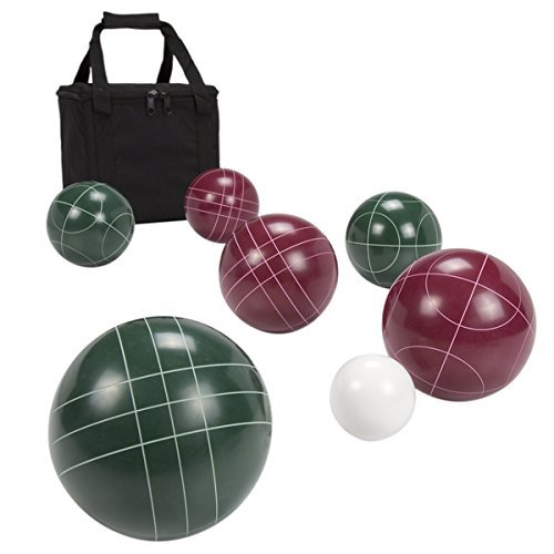 Hey! Play! Regulation Size 8 Bocce Ball Set Outdoor Play