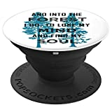 Nature Lovers Gift Hiking Camping, Mountain Forest Trees - PopSockets Grip and Stand for Phones and Tablets