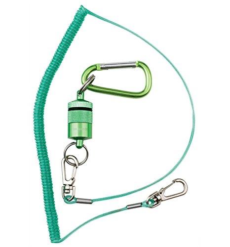 Dr. Slick Magnetic Net Keeper, Green, w/ Net Bungee Cord (Slick Dr Lanyard)
