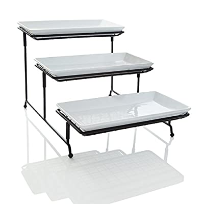 3 Tier Wire Stand with Serving Platters