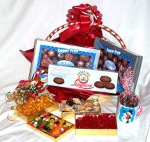 Diabetic Candy Christmas Basket Sugar Free Chocolate and Candy ()