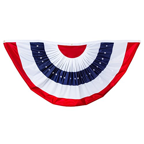 Evergreen Large American Flag Bunting - 8' x 4'