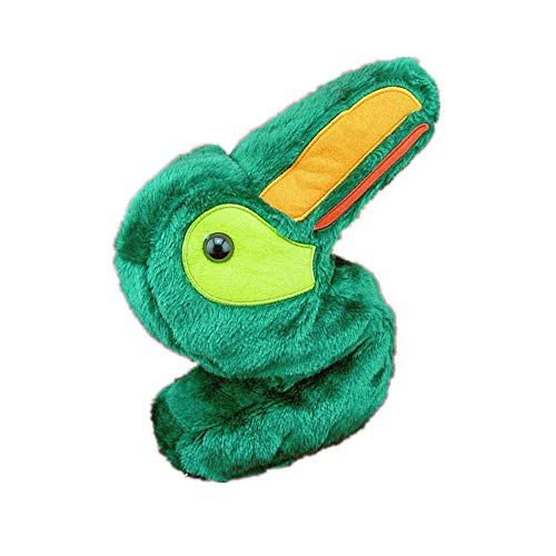 Convenient Individual Club Protector Golf Putter Headcover Cute Animals Standard Size Green Small Bird Golf Club Covers for No.3 No.5 Wood Durable (Color : As Shown, Size : Free)