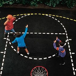 (Basketball Court Stencil Set )