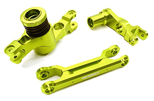Integy Hobby RC Model C26944GREEN Billet Machined Steering Bell Crank Set for Traxxas X-Maxx 4X4