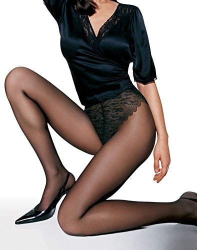 French Cut Sheer Pantyhose - Hanes French Lace Panty Control Top Sandlefoot 0G092, Little Color, CD