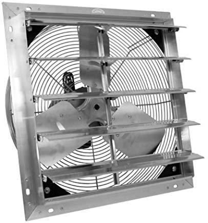 Wall Mount W//9 Cord VES 16 Exhaust Shutter Fan 1//10 Hp