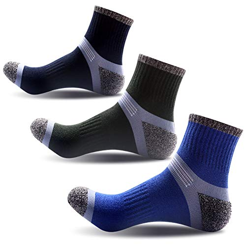 Compression Knee High Socks,Cotton Cushioned Crew Socks,Athletic Low Cut Socks For Men & Women ... (3 colors)