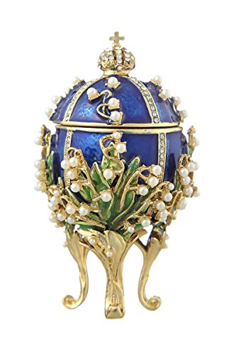 danila-souvenirs Decorative Russian Faberge Egg/Trinket for sale  Delivered anywhere in Canada
