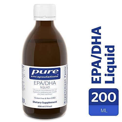 Pure Encapsulations - EPA/DHA Liquid - Ultra-Pure, Molecularly Distilled Fish Oil Liquid - Lemon Flavor - 200 ml (7 fl oz)