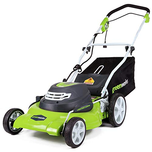 Greenworks 20-Inch 12 Amp Corded Lawn Mower 25022 (Renewed)
