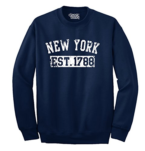 New York State Printed Adult Crewneck Sweatshirt