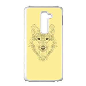 Gaze of the Wolf LG G2 Cell Phone Case White SA9715576