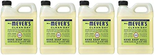 Mrs. Meyers Liquid Hand Soap Refill Lemon Verbena, 4 Pack (33 oz) ()