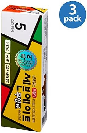 DS Seven Eight Hair Dye No Ammonia Color 5 Dark Chestnut New Creamy Type Made in Korea (Pack of 3)
