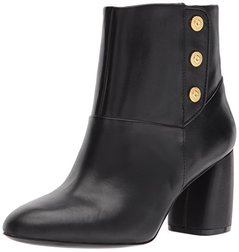Nine West Women's Kirtley Leather Ankle Boot, Black, 6.5 Medium US
