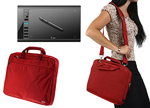 Navitech Red Graphics Tablet Case / Bag For The Ugee M708
