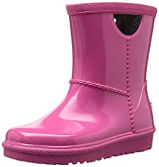 The perfect little waterproof rainboot with handles for easy on and off.