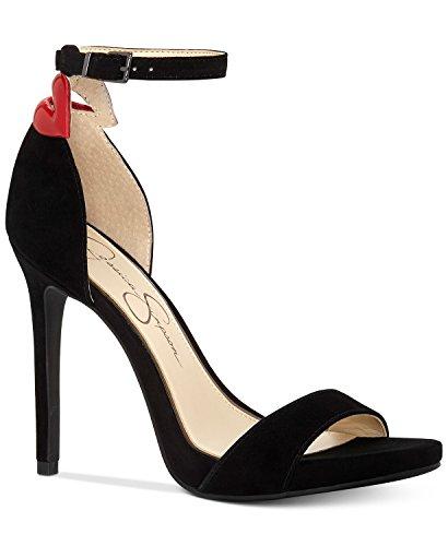Jessica Simpson Women's REENAH Heeled Sandal, Black/red Multi, 7 Medium US