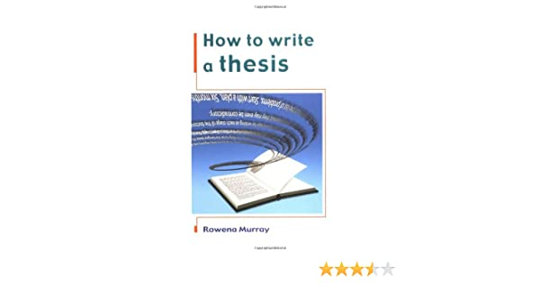 How to write a thesis murray how does ricin prevent protein synthesis