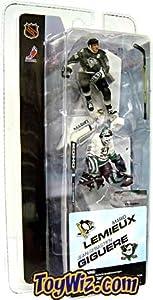 McFarlane Toys NHL 3 Inch Sports Picks Series 1 Mini Figure 2Pack Mario Lemieux (Pittsburgh Penguins) Jean Sebastien Giguere (Anaheim Mighty Ducks)