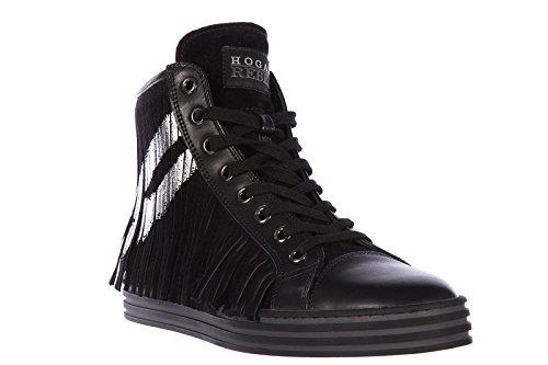 quality design 31e8c 6e059 Hogan Rebel Damenschuhe Damen Wildleder Schuhe High Sneakers rebel Schwarz  eaQEMzUfOp ...