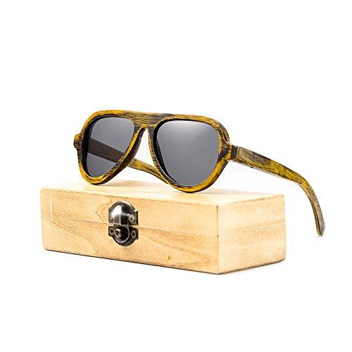 Wood Bamboo Sunglasses for Men or Women Polarized Lenses Wayfarer Style Aviator - Aviators Wayfarers Or